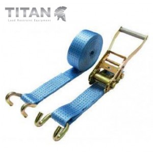 5000kg Ratchet Strap Chassis Hooks 8Metres