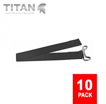 Curtainsider Bottom Straps 850mm - Closed Rave Hooks