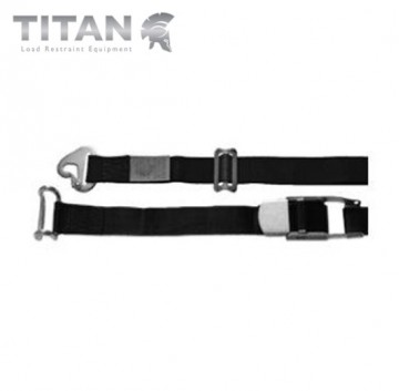 Internal Cargo Strap Snaphook with Rave Hook 4.5M