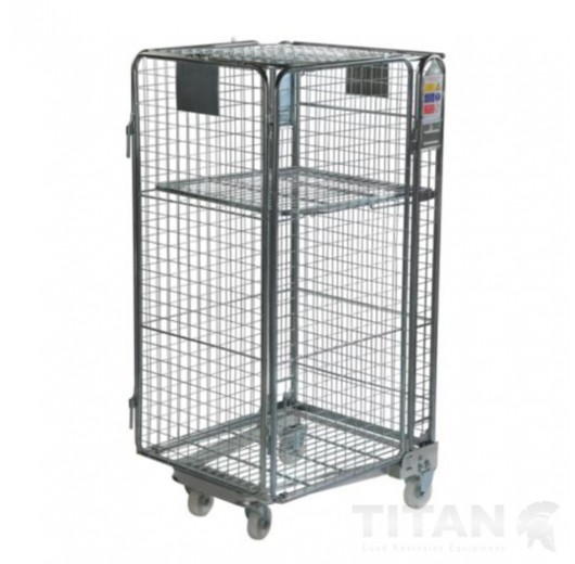 Premium Full Security A Frame Roll Cage + Shelf, Rubber Wheels & Brakes