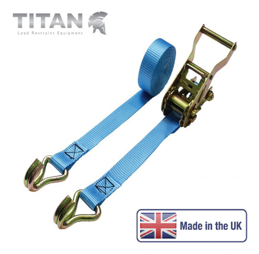 1500kg Ratchet Strap Claw Hooks 6Metres
