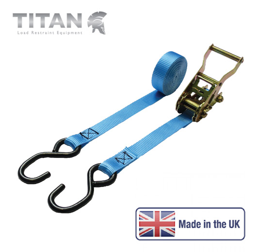 1500kg Ratchet Strap S Hooks 4Metres