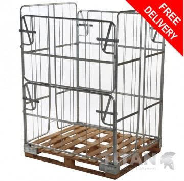 Pallet Retention Unit (Non-Stackable) Extra Height - Half/Full Gate Access