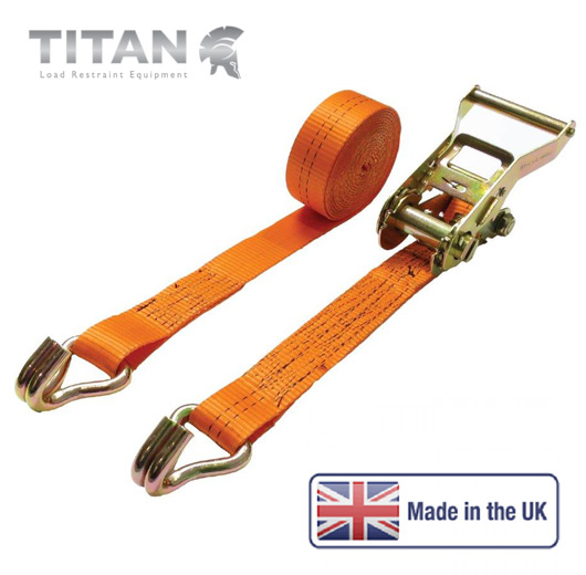 2000kg Ratchet Strap Claw Hooks 8Metres