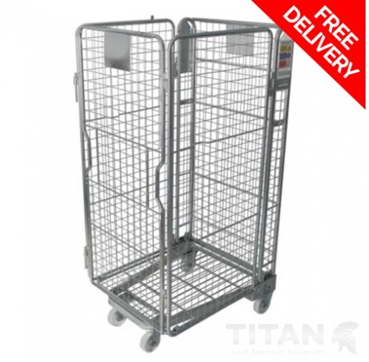 Roll Container 4 Sided Mesh Infill Nestable 'A' Frame