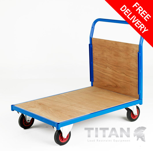 Heavy Duty Platform Trolley 500kg Capacity - Single End Plywood