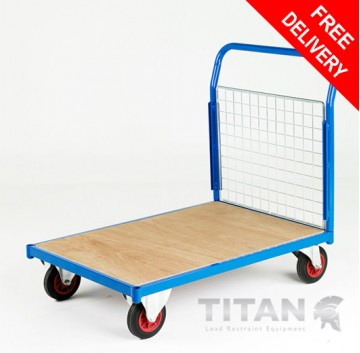Heavy Duty Platform Truck 500kg Capacity Single End Mesh