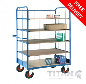 Heavy Duty Shelf Truck with Rod Superstructure