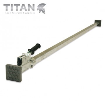 Steel Cargo Jack Bar with Rubber Pads Adjustment 2.2m - 2.6m