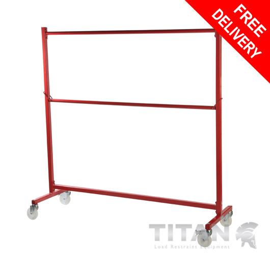Heavy Duty Garment Rail Trolley (Industrial) Red