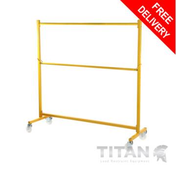 Heavy Duty Garment Rail Trolley (Industrial) Yellow