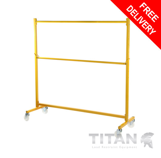 Heavy Duty Garment Rail Trolley (Industrial) Yellow