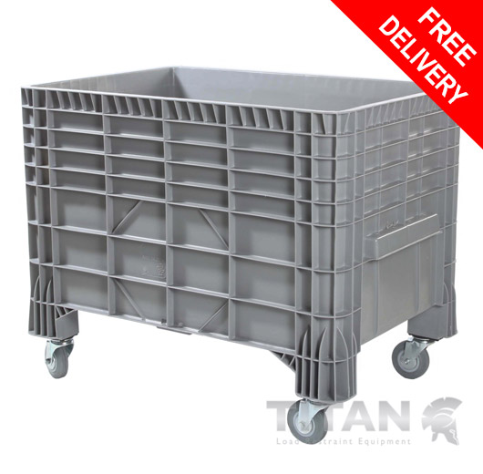 Plastic Pallet Box with Wheels 550Litre