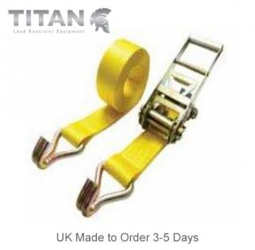 10,000kg Ratchet Strap Claw Hooks 6Metres