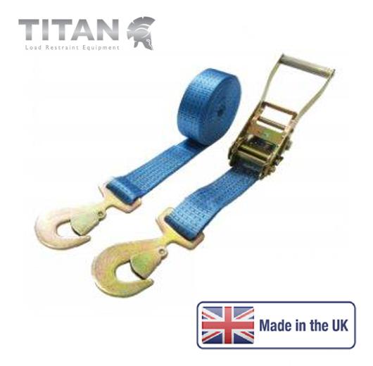 5000kg Ratchet Strap Flat Snap Hooks 12Metres