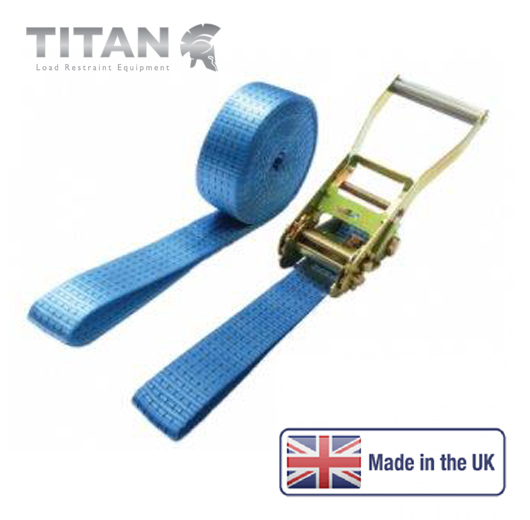 5000kg Ratchet Strap Looped Ends 8Metres