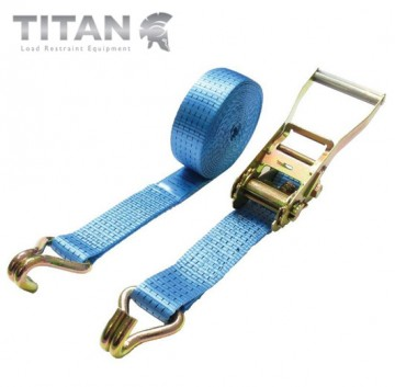 5000kg Heavy Duty Ratchet Strap Claw Hook - 6Metre