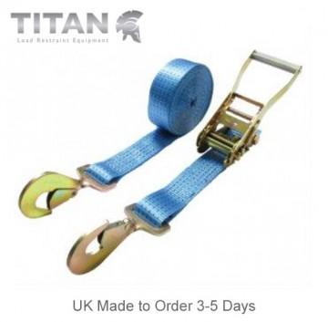 5000kg Ratchet Strap Twisted Snap Hooks 15Metres