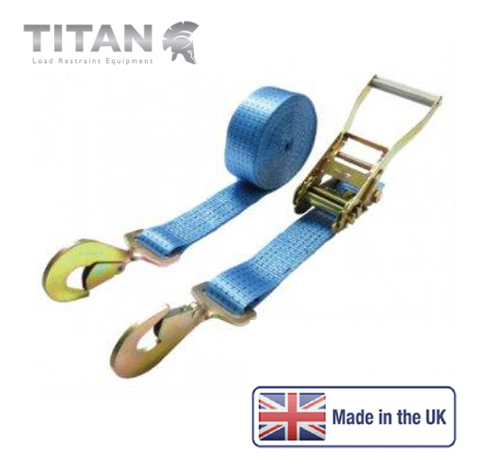 5000kg Ratchet Strap Twisted Snap Hooks 8Metres