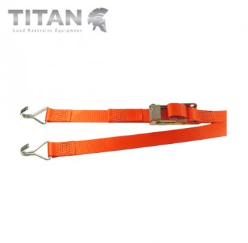 Internal Box Van Strap Heavy Duty Buckle with Claw Hooks 2000kg