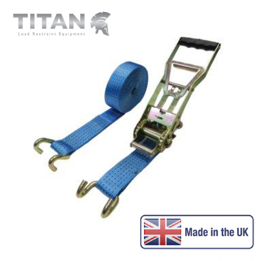 5000kg Ratchet Strap Chassis Hook Ergonomic 15Metres