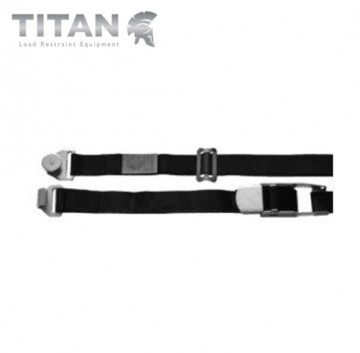 Internal Cargo Strap Steel Roller with Combi Hook 4.5M