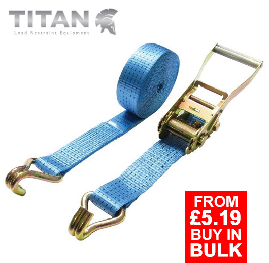5 Tonne Ratchet Strap Claw Hooks 4Metres