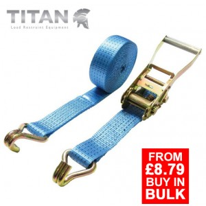 5 Tonne Ratchet Strap Claw Hooks 15Metres