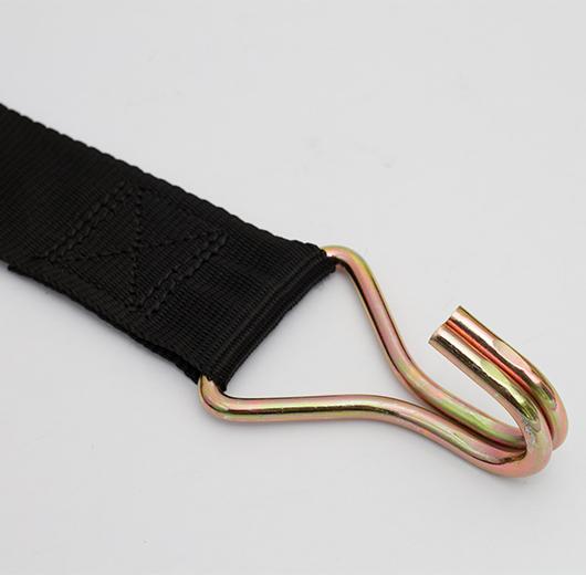 2000kg Ratchet Strap Claw Hooks 4Metres - Black