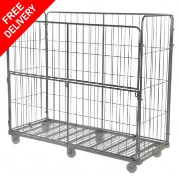 Super Jumbo Roll Container 4 Sided Half Drop Gate Demountable