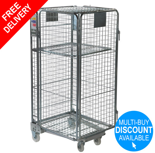 Full Security Roll Container Nestable - Standard Mesh