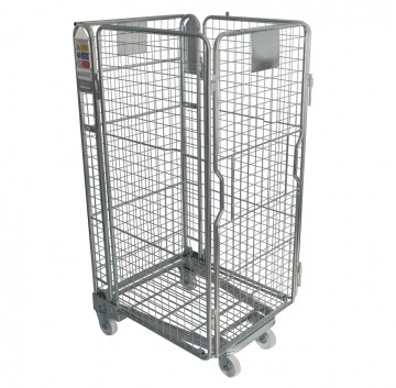 4 Sided Roll Cage Nestable - Standard Mesh