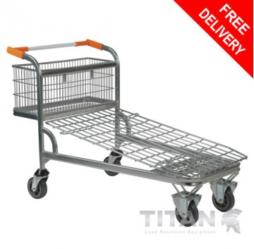 Cash and Carry Trolley with Fixed Basket – Nestable