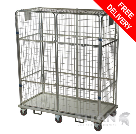 Heavy Duty Full Security Jumbo Roll Container
