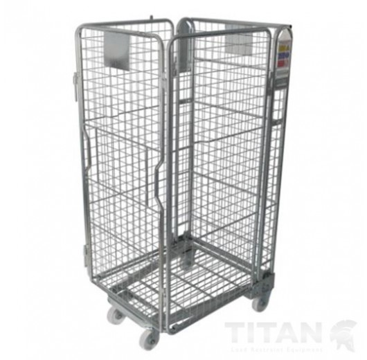 Premium 4 Sided Mesh Infill A Frame + Integral Shelf, Rubber Wheels & Brakes