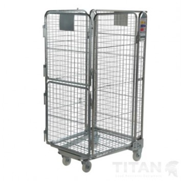4 Sided Mesh Infill A Frame Roll Cage Twin Door + Integral Shelf