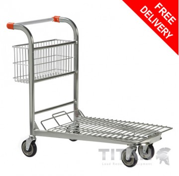 Cash & Carry/Stock Trolley with Fixed Basket – Nestable