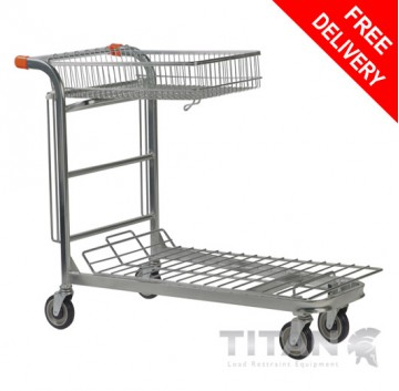 Carry & Carry/Stock Trolley with Folding Basket – Nestable