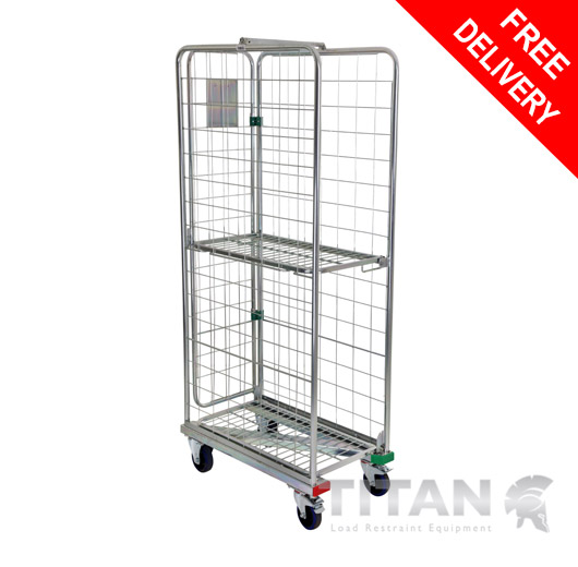 Narrow Aisle Z Frame Roll Container Nestable