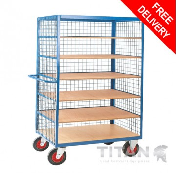 Heavy Duty Shelf Truck with Mesh Superstructure