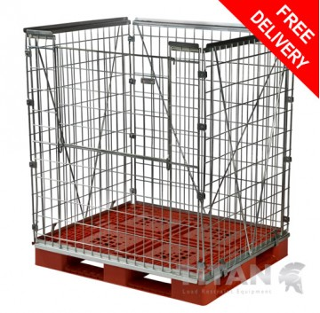 Pallet Retention Unit (Stackable) Extra Height – Half Gate Access