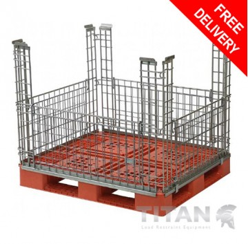 Pallet Cage (Stackable) – Four Gate Access
